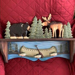 Woodland Shelf with 3 hooks
